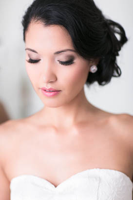 Bridal Portrait Showing off Eyelashes